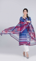 Digital Printed Lawn Shirt: 3.00 M  Digital Printed Chiffon Dupatta: 2.50 M