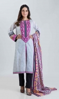 PRINTED EMBROIDERED LAWN SHIRT: 3.00 M  PRINTED LAWN DUPATTA: 2.50 M
