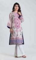 DIGITAL PRINTED EMBROIDERED LAWN SHIRT: 3.00 M
