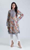 DIGITAL PRINTED LAWN SHIRT: 3.00 M  EMBROIDERY NECKLINE: 1.00 M BORDER
