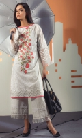 PRINTED EMBROIDERED LAWN SHIRT: 2.50 M