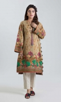 DIGITAL PRINTED LAWN SHIRT: 3.00 M  EMBROIDERY 2 BUNCHES