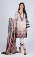 Digital Printed Lawn Shirt: 3.00 M  Digital Printed Lawn Dupatta: 2.50 M  Dyed Cambric Trouser: 2.00 M