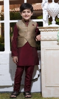 Fancy stylish waistcoat paired with kurta pajama Embroidery motifs on sleeves  Embroidery on collar