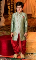 angarkha cut sherwani with zardozi Dhoti with borders