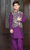 Band Collar Plain Front Straight Sleeves Plain Shalwar