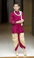 Jamawar Sherwani with Dhoti  Crystal work details.