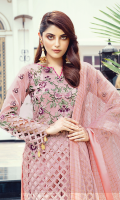 • Embroidered Tissue for Front: 1 Yard • Embroidered Tissue for Back: 1 Yard • Embroidered Tissue for Sleeves: 0.75 Yard • Embroidered Tissue Dupatta Palu Patti Patch: 2 Yard • Embroidered Jacquard Dupatta: 2.5 Yard • Viscos Trouser: 2.5 Yard