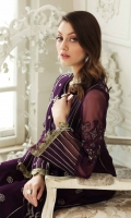 Shirt Embroidered Chiffon Front 2M Embroidered chiffon Front yoke 0.75 M Embroidered Chiffon Sleeves 26Inches Embroidered Chiffon Back 1.4M Embroidered Front +Back +sleeves Patti 4M Inner Shirt 2.25M  Trouser Raw Silk Trouser 2.5 M  Dupatta Embroidered Chiffon Dupatta 2.5 M