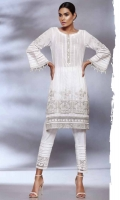 Ready To Wear Lawn Fabric Shirt With Adda Work Cotton Fabric Embroidered Trouser
