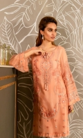 Ready To Wear Chiffon Fabric Embroidered Shirt With Attached Resham Lawn Inner Raw Silk Trouser