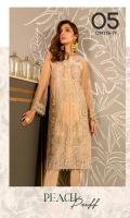 Ready To Wear Net Fabric Embroidered Shirt With Attached Resham Lawn Inner And Adda Work Raw Silk Trouser