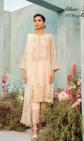Ready To Wear Organza Fabric Embroidered Shirt With Adda Work Attached Resham Lawn Inner Raw Silk Embroidered Trouser Net Fabric Embroidered Trouser