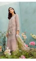 Ready To Wear Organza Fabric Embroidery Shirt With Adda Work Attached Resham Lawn Inner Raw Silk Fabric Embroidered Trouser Net Fabric Embroidered Dupatta With Adda Work