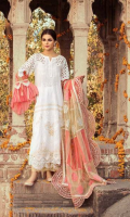 Shirt Embroidered Lawn Front 1.4 m Embroidered Lawn Sleeves 26 inches Embroidered Lawn Back 1.4 Embroidered Front + Back + Sleeves Patti 2.5 m Embroidered Front + Back Daman Patti 1.75 m Embroidered Schiffle Front Yoke + Sleeves 1 m  Trouser Embroidered Cotton Trouser 2.5 m  Dupatta Embroidered Cotton Net Dupatta 2.5 m Embroidered Dupatta Patti 8 m Finishing Patti 1 Piece