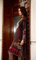 Shirt Printed Embroidered Viscose front 1.25 m Back + Printed Viscose Sleeves 2 m Trouser Embroidered Viscose Trouser 2.5 m Duppata Printed Chiffon Duppata 2.5 m