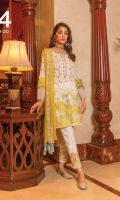 Ready To Wear Schifflli Fabric Shirt Paste Print Cotton Embroidered Trouser Ready To Wear Chiffon Embroidered Dupatta