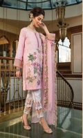 Ready To Wear Lawn Fabric Embroidered Shirt Cotton Fabric Embroidered Trouser Ready To Wear Chiffon Fabric Embroidered Dupatta
