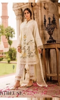 Ready To Wear Schifflli Fabric Embroidered Shirt With Adda Work Cotton Fabric Embroidered Trouser  Ready To Wear Chiffon Fabric Embroidered Dupatta