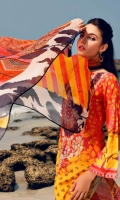 Shirt  Printed and Embroidered front lawn 1.25 Mtr sleeves and back printed lawn 02 Mtr Trouser   Cotton Embroidered  Trouser 2.50 Mtr Dupatta  Printed chiffon dupatta  2.50 yards