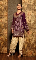 Ready To Wear Raw Silk Fabric Heavy Embroidered Shirt & Resham Lawn Inner Cotton Tilla Jequared Shallwar With Fancey Golden Lace Bottom Finished Shallwar