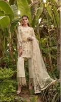 Ready To Wear Chiffon Fabric Embroidered Shirt With Adda Work Attached Resham Lawn Inner Raw Silk Fabric Embroidered Trouser Net Fabric Embroidered Dupatta