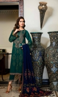 Shirt  Embroidered Front Neck 1 piece Leather Jacquard Front + Back + Sleeves 3.4 m Embroidered Front + Back + Sleeves + Trouser Patti 8 m Trouser  Leather Trouser 2.5 m Shawl  Embroidered Pashmina Shawl 2.5 m Embroidered Shawl Patti 5 m