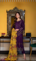 Shirt  Leather Jacquard Front + Back + Sleeves 3.4 m Embroidered Front + Sleeves + Daman Patti 2 m Trouser  Leather Trouser 2.5 m Shawl  Embroidered Pashmina Shawl 2.5 m