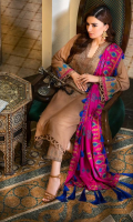 Shirt  Embroidered Front Neck 1 piece Leather Jacquard Front + Back + Sleeves 3.4 m Embroidered Sleeves Patti 1.5 m Trouser  Leather Trouser 2.5 m Embroidered Trouser Patti 1.5 m Shawl  Embroidered Pashmina Shawl 2.5 m