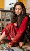 Shirt  Embroidered Front Neck 1.5 m Leather Jacquard Front + Back + Sleeves 3.4 m Trouser  Embroidered Trouser Patti 1.5 m Leather Trouser 2.5 m Shawl  Embroidered Pashmina Shawl 2.5 m