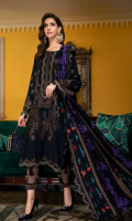 Shirt  Leather Jacquard Front + Back + Sleeves 3.4 m Embroidered Front + Sleeves + Daman Patti 8 m Trouser  Leather Trouser 2.5 m Embroidered Trouser Patti 1.5 m Shawl  Embroidered Pashmina Shawl 2.5 m