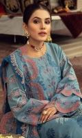 Shirt Embroidered Front Luxury Masoori Lawn 1M Masoori Lawn Back 1.4M Embroidered Luxury Masoori   Lawn Sleeves 26 Inches Embroidered Front +Back +Daman Patti 1.5M  Trouser Cotton Trouser 2.5M  Dupatta Embroidered Chiffon Dupatta 2.5 M Embroidered Dupatta Patti 8M