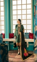 Shirt Massori Front+Back+Sleeves 3.4 m Embroidered Front+Back Daman Patti 2 m Embroidered  Back + Sleeves Motif 3 Pieces Embroidered Front Neck Patti 1.5 m   Trouser Embroidered Trouser 2.5 m   Shawl Embroidered Shawl Patti 2 m Embroidered Velvet Shawl 2.5 m