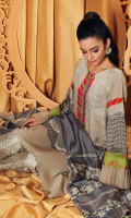 Shirt Digital Printed Staple Shirt 3.25 m Trouser Staple Trouser 2.50 m Embroidered Trouser Patti 1.25m Duppata Embroidered Cotton Net Duppata 2.50 m