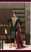 Shirt: - Embroidered Jacquard Dupatta: - Jacquard Trouser: - Dyed
