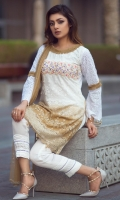 This 3D qureshia Lawn Fabric is embellished with handmade 3D tissue flowers stones and pearls stylized with lace pants and stone studded dopatta. It can be customized into different colors