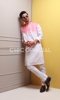 Premium Cotton Tie and Dye Kurta paired up with cotton trousers