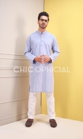 Premium Cotton Denim Textured dupatta paired up with cotton trousers