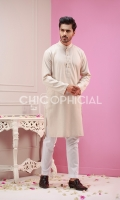 Premium textured Cotton kurta paired up with cotton trousers
