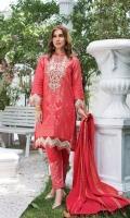 Embroidered Neck Patch Daman Patch Sleeves Patch Trouser Cotton Jacquard Dupatta Cotton Jacquard