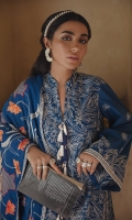 SHIRT 100% COTTON SATIN EMBROIDERED SHIRT, FRONT AND SLEEVES, PASTE PRINTED BACK  TROUSERS 100% DYED CAMBRIC TROUSER  DUPATTA EMBROIDERED VISCOSE NET DUPATTA