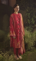 SHIRT 100% COTTON SATIN EMBROIDERED SHIRT, FRONT, AND SLEEVES, DIGITAL PRINTED BACK  TROUSERS 100% DYED CAMBRIC TROUSER  DUPATTA DIGITAL PRINT VISCOSE NET DUPATTA