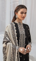 SHIRT 100% COTTON SATIN EMBROIDERED SHIRT, FRONT AND SLEEVES, PASTE PRINTED BACK,1 EMBROIDERED NECKLINE  TROUSERS 100% DYED CAMBRIC TROUSER  DUPATTA DIGITAL PRINT VISCOSE NET DUPATTA