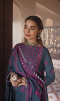 SHIRT 100% COTTON SATIN EMBROIDERED SHIRT, FRONT AND SLEEVES, PASTE PRINTED BACK  TROUSERS 100% DYED CAMBRIC TROUSER  DUPATTA EMBROIDERED KHAADI NET DUPATTA