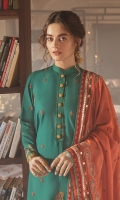 SHIRT 100% COTTON SATIN EMBROIDERED SHIRT, FRONT, AND SLEEVES, DIGITAL PRINTED BACK  TROUSERS 100% DYED CAMBRIC TROUSER  DUPATTA EMBROIDERED VISCOSE NET DUPATTA