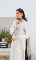 SHIRT LAWN EMBROIDERED SHIRT FRONT, 1 EMBROIDERED NECKLINE  TROUSERS DYED CAMBRIC TROUSER   DUPATTA PRINTED VISCOSE SILK DUPATTA