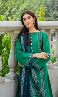 SHIRT LAWN EMBROIDERED SHIRT FRONT, BACK, AND SLEEVES  TROUSERS DYED CAMBRIC TROUSER  DUPATTA EMBORIDERED CHIFFON DUPATTA