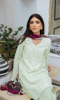 SHIRT LAWN EMBROIDERED SHIRT FRONT, BACK, AND SLEEVES  TROUSERS DYED CAMBRIC TROUSER  DUPATTA PRINTED CHIFFON DUPATTA