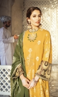 SHIRT WOVEN JACQUARD SHIRT  1 EMBROIDERED PATTI FOR SHIRT  TROUSER DYED CAMBRIC TROUSER  DUPATTA WOVEN JACQUARD DUPATTA