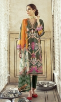 SHIRT LAWN SHEESHA EMBROIDERED SHIRT FRONT  DIGITAL PRINTED BACK AND SLEEVES  TROUSER DYED CAMBRIC TROUSER  DUPATTA DIGITAL PRINTED CHIFFON DUPATTA